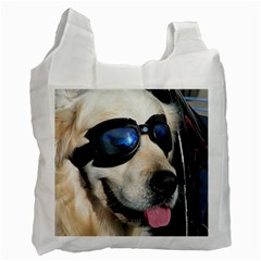 Cool Dog  Recycle Bag (One Side)