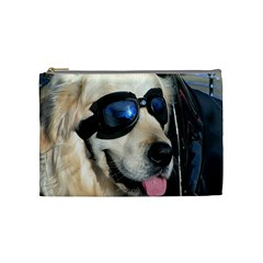 Cool Dog  Cosmetic Bag (Medium)