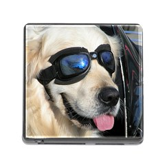 Cool Dog  Memory Card Reader with Storage (Square)