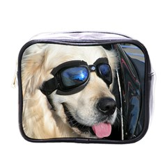 Cool Dog  Mini Travel Toiletry Bag (one Side)