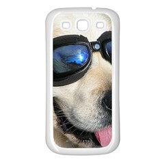 Cool Dog  Samsung Galaxy S3 Back Case (White)