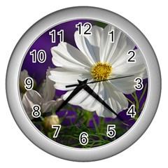 Cosmea   Wall Clock (Silver)