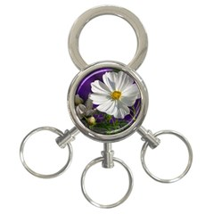 Cosmea   3-Ring Key Chain