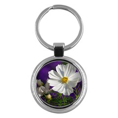Cosmea   Key Chain (Round)