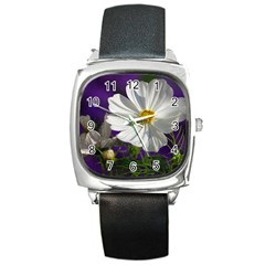 Cosmea   Square Leather Watch