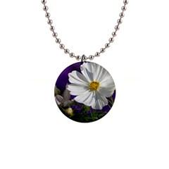 Cosmea   Button Necklace