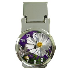 Cosmea   Money Clip with Watch