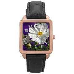 Cosmea   Rose Gold Leather Watch