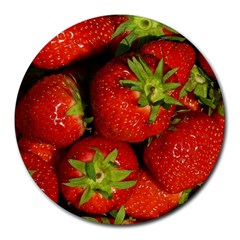 Strawberry  8  Mouse Pad (Round)