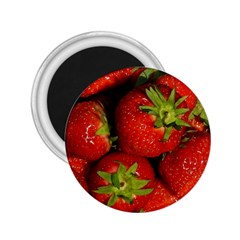 Strawberry  2 25  Button Magnet