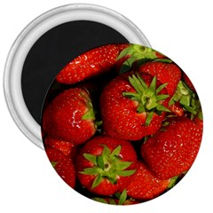 Strawberry  3  Button Magnet
