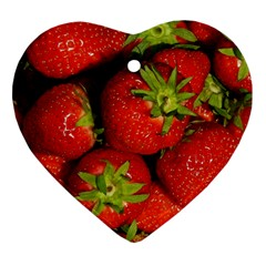 Strawberry  Heart Ornament