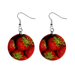 Strawberry  Mini Button Earrings