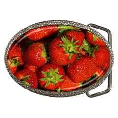 Strawberry  Belt Buckle (Oval)