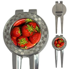 Strawberry  Golf Pitchfork & Ball Marker
