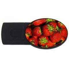 Strawberry  2GB USB Flash Drive (Oval)
