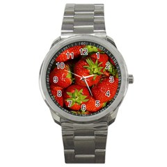 Strawberry  Sport Metal Watch