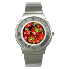Strawberry  Stainless Steel Watch (Unisex)