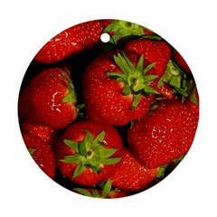 Strawberry  Round Ornament (two Sides)