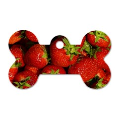 Strawberry  Dog Tag Bone (one Sided)