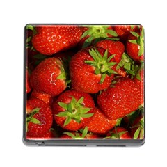 Strawberry  Memory Card Reader with Storage (Square)