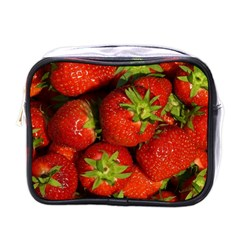 Strawberry  Mini Travel Toiletry Bag (One Side)