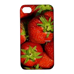 Strawberry  Apple Iphone 4/4s Hardshell Case With Stand