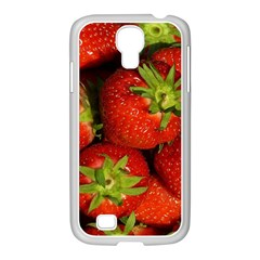 Strawberry  Samsung Galaxy S4 I9500/ I9505 Case (white)