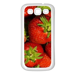 Strawberry  Samsung Galaxy S3 Back Case (White)
