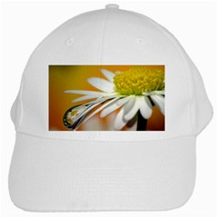Daisy With Drops White Baseball Cap