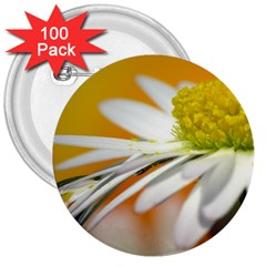 Daisy With Drops 3  Button (100 pack)