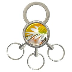 Daisy With Drops 3-Ring Key Chain