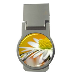 Daisy With Drops Money Clip (round)