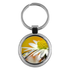 Daisy With Drops Key Chain (Round)