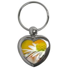 Daisy With Drops Key Chain (Heart)