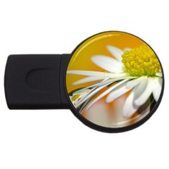 Daisy With Drops 2gb Usb Flash Drive (round)