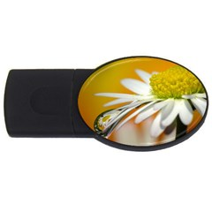 Daisy With Drops 1GB USB Flash Drive (Oval)
