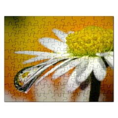 Daisy With Drops Jigsaw Puzzle (rectangle)