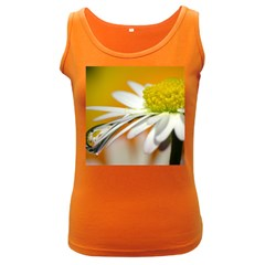 Daisy With Drops Womens  Tank Top (dark Colored)