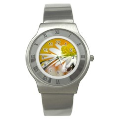 Daisy With Drops Stainless Steel Watch (Unisex)