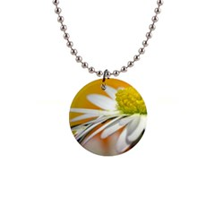 Daisy With Drops Button Necklace