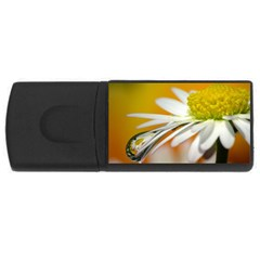 Daisy With Drops 4GB USB Flash Drive (Rectangle)