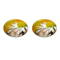 Daisy With Drops Cufflinks (oval)