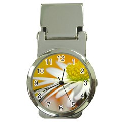 Daisy With Drops Money Clip with Watch