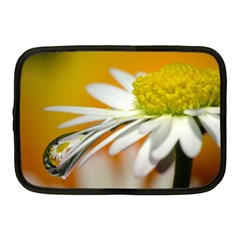 Daisy With Drops Netbook Case (medium)