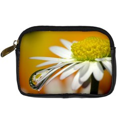 Daisy With Drops Digital Camera Leather Case