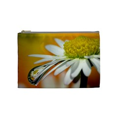 Daisy With Drops Cosmetic Bag (medium)
