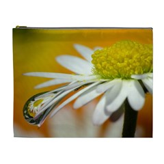 Daisy With Drops Cosmetic Bag (XL)