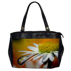 Daisy With Drops Oversize Office Handbag (One Side)