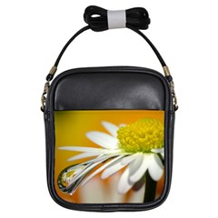 Daisy With Drops Girl s Sling Bag